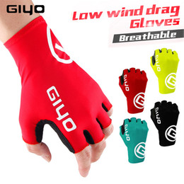 Fahrradhandschuhgelhälfte online-Giyo Cycle Half-Finger Handschuhe Gel Sport Fahrrad Race Handschuhe von Mtb Road Guantes Handschuh Radfahren Herren Mid-Term Women