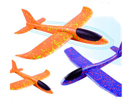 38CM  Foam Airplane Hand Launch Fly Glider Aircraft Throw Plane Model Toy YH