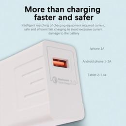 5v 3a ladegerät adapter Rabatt USB-Ladegerät-Adapter 5V 3A EU-Stecker Fast Charge Travel Qualcomm Quick Charge 3.0 für Samsung Note 10 + 5G USB-Kabel-Adapter 1 Port