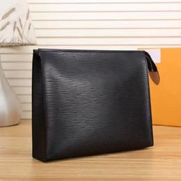2019 de alta qualidade Por Atacado saco de designer de cosméticos mulheres grande organizador de viagem saco de lavagem de armazenamento de couro make up bag homens bolsa caso Cosméticos de