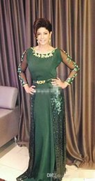 sequined beaded mother bride Coupons - Elegant Green Mother Of The Bride Dresses Floor Length Sequined Women Formal Party Dresses Long Sleeves Beaded Wedding Guest Gowns
