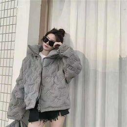 19FW Yeni lüks markalar tasarım monogram Tam Logolar kabarık rüzgarlık Coat Erkekler Kadınlar Açık Streetwear Kazak Ceketler kabartmalı nereden sevimli kazak hoodie tedarikçiler