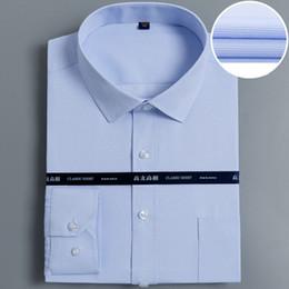 2019 nuevos hombres miran camisas Nueva llegada buen aspecto de los hombres de negocios camisas formales manga larga dar vuelta abajo cuello fácil cuidado rayas / a cuadros camisas de vestir masculinas nuevos hombres miran camisas baratos