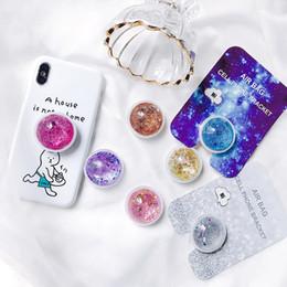 vivo nuovo telefono Sconti New Colorful Liquid Glitter Hot Stand Del Telefono Per xiaomi pocophone f1 / iphone / Vivo Nex S / Vivo Espansione Stand Grip Hot Finger Holder (vendita al dettaglio)