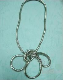 Оптовое гибкое ожерелье онлайн-Оптовая продажа (минимальный заказ 10 $) Носите, как вам нравится, носите крученое ожерелье, 5-миллиметровую длину, сгибаемую цепочку змейки, гибкие ювелирные ожерелья
