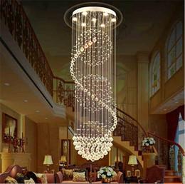 iluminação legal para sala de crianças Desconto LED K9 lustres de cristal luzes escadas penduradas luz da lâmpada Decoração de iluminação interior com D70CM H200CM lustre luminárias