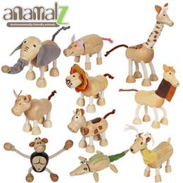 Mundo de los juguetes online-Anamalz de madera de arce animales de juguete articulación móvil colgante Modelo animal bebé Juguetes mundo educativo 8-15cm 10 PC / porción LA276