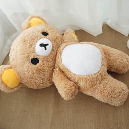 2019 cadeaux rilakkuma Kawaii dessin animé ours en peluche poupée grand bourré doux anime rilakkuma ours jouet oreiller pour cadeau bébé 31 pouces 80 cm DY50639 cadeaux rilakkuma pas cher