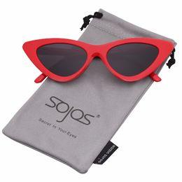 gli occhiali da sole sexy all'ingrosso Sconti Commercio all'ingrosso 2018 Design carino sexy retrò Cat Eye occhiali da sole donne triangolo vintage occhiali da sole piccoli rosso femminile sfumature uv400 SJ2044