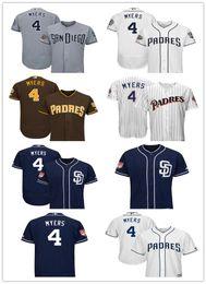 9e5d701b6 Men s Padres 4 Wil Myers San Diego Navy 2019 Spring Training Flex Base  Player women kids Jersey