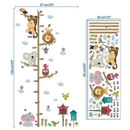 2019 figlio adesivo carta Grafico Crescita Altezza bambini Misura Appeso a muro Decalcomania Kids Baby Room sconti figlio adesivo carta