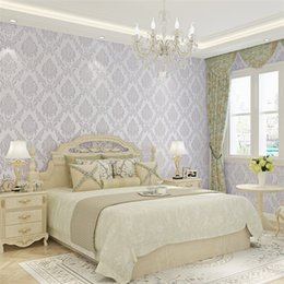 Impresiones de papel tapiz vintage online-Damasco vintage 3D venta de papel tapiz de hotel papel tapiz de papel natural 3d maquinaria de impresión papel 3d pared de pared