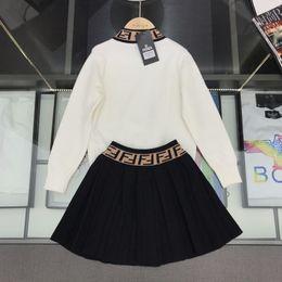 Корейская дизайнерская одежда онлайн-Дизайнер Luxury двухкусочный Эпикировка 2019 костюм корейской девушки детей Athletic Wear Twinset Детская одежда Установить рукав свитера Одежда 092005