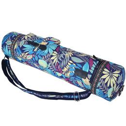 Yoga Mat Borsa Carrier Durevole Tela Cotone Yoga Zaino Borsa Carry Strap Borse Drawstring Pilates Mat 71 * 17 cm # 182002 supplier yoga mat carry bag da stuoia di yoga trasportare sacchetto fornitori