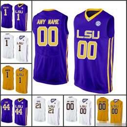 f7d1466ff1d8 Custom NCAA LSU Tigers Basketball Jerseys Any Name Number  25 Simmons 33  Shaquille O Neal 1 Duop Reath 4 Skylar Mays 21 Aaron Epps S-3XL lsu  basketball ...