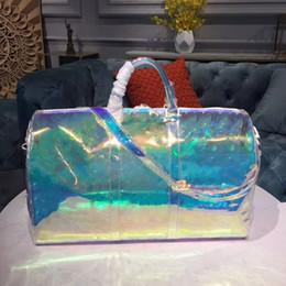 фарфор и Скидка Новый европейский классический роскошный стиль сумка женская сумка из пвх парижская супермодель мода блестящий цвет прозрачный дорожная сумка