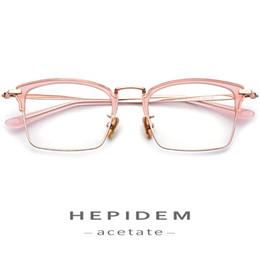 2020 brillengestell rosa Acetat-Glas-Rahmen Damen Herren optische Verordnung Brillen 2018 Damen Sexy Klar Blau Brille Metall Brillen rabatt brillengestell rosa