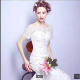 Canada Robe de mariage nouvelle appliques de dentelle blanche sirène réelle robe de mariage de l'épaule manches courtes robe de mariée corset meilleure vente supplier off white corset wedding dress Offre