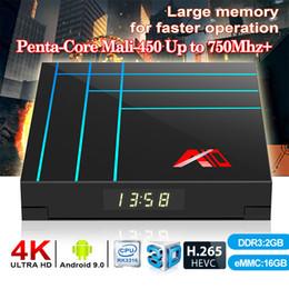 потоковый видеоплеер Скидка Android TV Box для поддержки RK3318 Quad-Core Streaming Media Player WiFi 2.4G 3D видео форматы 2 + 16GB 4 + 32 / 64GB TX6 H96max