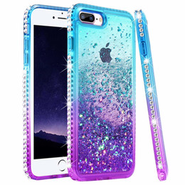 telefones femininos Desconto Capa de telefone líquido diamante meninas glitter para iphone xr / 6/7/8/7 plus / 8 plus / xs max / x / xs areia movediça bling sparkly feminino protetora strass