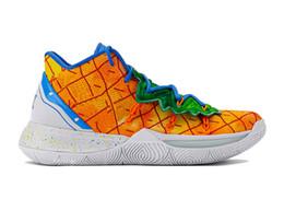 Продажа баскетбольной обуви онлайн-Kyries 5 Баскетбол Чистка Ананас Дом Orion Пояс Держите Сью свежий Ирвингу 5 кроссовки для продажи с коробкой и StockX Tag