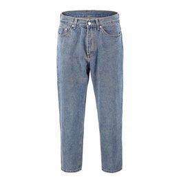 2019S Hiphop NEW INS Stil European American Grund Joker waschen Rettich Version von losen Jeans Mode Männer Frauen Japan Retro Jeans