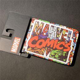 2019 carteira dos comics do dc New Comics Dc Marvel Magro Carteira Os Vingadores Hulk Homem De Ferro Capitão América Bolsa De Crédito Oyster Carteira De Cartão De Licença carteira dos comics do dc barato