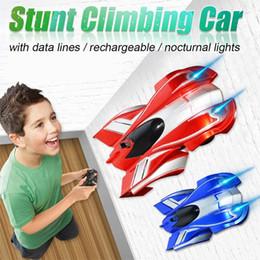 rc stunt giocattolo auto Sconti NUOVO Gravity Defying RC Stunt Wall Climbing Auto Telecomando anti gravità Soffitto auto da corsa Giocattoli elettrici per bambini