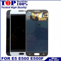 lcd samsung e5 Sconti Top LCD E500F per Samsung E5 Display 5.0 pollici Assemblaggio digitalizzatore touch screen per Samsung Galaxy E5 Display E500 E500H E500M LCD Ypf27-38