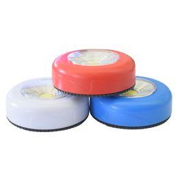 3 colori COB Touch Light Round LED Lampada da parete Armadio Armadio Armadio sotto luce domestica di emergenza luce notte da