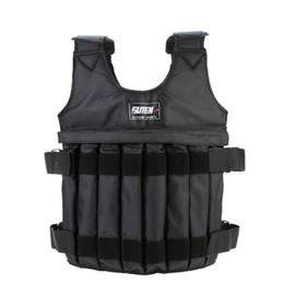 2019 giacche da giubbotto Raffreddare 20 / 50kg Caricamento giubbotto appesantito per allenamento boxe regolabile Esercizio Giacca nera Swat Sanda Sparring Proteggi sconti giacche da giubbotto