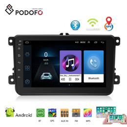 2019 passat tv Podofo Android 8.1 Radio Car DVD Player 2 Din 8 '' Radio Espelho Link HD Bluetooth GPS WIFI FM para o golfe VW passat jetta polo Skoda Assento passat tv barato