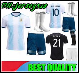 Colocando 24 xícaras on-line-2019 Taça de ouro Argentina crianças Camisas de Futebol Messi Dybala Kun Camisa Camisa de Futebol Infantil Futbol Camisa de Futebol Maillot HIGUAIN ICARDI