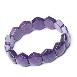 шароитовые бусы Скидка Natural Charoite Crystal Diamond  14x16mm For Women Man Fashion Bracelet
