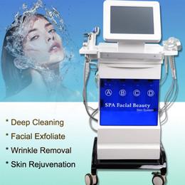 Microdermoabrasión de diamante 5in1 online-2019 Nueva máquina de dermoabrasión facial 5in1 Hydro Chorro de oxígeno de agua Peeling Diamante Máquina de microdermabrasión Cuidado facial Rejuvenecimiento de la piel