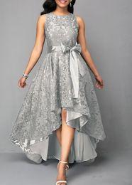 2019 hocharmes ärmelloses hemd Fashion High Low Mutter der Braut Kleider Plus Size 2019 Lace Sleeveless A Line Abendkleider Mütter Slim Fit Hochzeitsgast Kleid rabatt hocharmes ärmelloses hemd