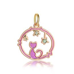 in argento placcato stampaggio vuoto Sconti Punk Fashion charms Cartoon carino gatto gatto braccialetto collana donne ciondolo fai da te accessori gioielli perline regali creativi AH051