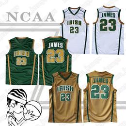 scuola nera degli alti talloni Sconti 23 maglie LeBron James maglie NCAA 2019 maglie da basket di alta qualità di vendita calda s-xxl