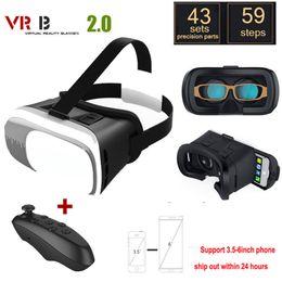 Google cartón bluetooth online-Gafas de vidrio VR 2.0 Google Cardboard Realidad virtual 3D VR Smartphone + Bluetooth Gamepad para iPhone xiaomi 3.5 - 6.0 pulgadas