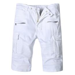 b8184742c3f4c 2019 jeans blanc rasé 2019 été Top Hommes Jeans Shorts, designer de mode blanc  Jean