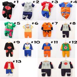 Ropa doctores online-13 colores Baby Romper Toddler One Piece Luffy Onesie Baby Girl Boy ropa Niños Doctor Chopper Mono infantil Kakaroto Akatsuki Costume3M-18M