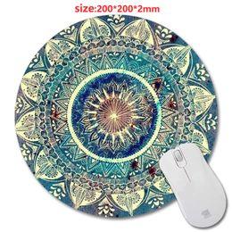 Профессиональный изготовленный на заказ коврик для мыши с Мандала шаблон мода дизайн круглый коврик для мыши с резиной 20 см коврики для мыши от