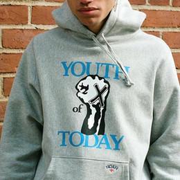 Логотипы панк-групп онлайн-19FW Молодежь сегодня Толстовки с логотипом Noah X Hardcore Punk Band Толстовка с капюшоном Хип-хоп Уличный пуловер с капюшоном Мужчины Женщины Пиджаки HFYMWY255
