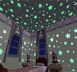 настенный светильник для спальни для детей Скидка Горячие продажи Night Light Star настенные наклейки Luminous Люминесцентные Съемная Светящиеся в темноте стены стикеры для младенцев Дети Спальня Home Decor