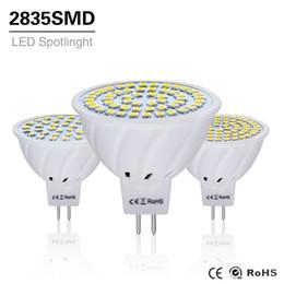 mr16 24v geführte birnen Rabatt 10 stücke 4 watt 6 watt 8 watt lampe mr16 ac / dc 12 v 24 v lampe licht gu5.3 mr 16 scheinwerfer 220 v 2835 smd led beleuchtung weiß / warmweiß q190601