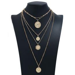 aaa edelstein perlen Rabatt Lange Halskette Frauen runde Halsketten Anhänger Für Damen Modeschmuck Bijoux Gold Farbe Mehrschichtige Kette Halsketten