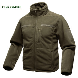 Максимальная одежда онлайн-FREE SOLDIER Outdoor Sports Camping Hiking Jackets Men's Clothing Tactical Fleece Jacket for Climbing
