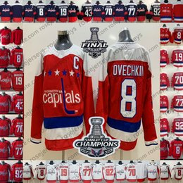 Washington Capitals 2018 New Red Third Jersey  19 Nicklas Backstrom 43 Tom  Wilson Ovechkin Oshie Holtby Blank Caps Stanley Cup Champions 43 tom wilson  deals cdf01fdea
