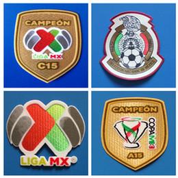 Patch di leghe online-Toppa da calcio Toppa da Messico Toppa da calcio messicana Distintivi di maglia da Messico Champion Football Patches