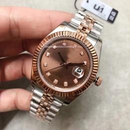 mm chocolates Desconto 2019 U1 fábrica dos homens relógio automático datejust m126331-0004 series 41mm cor de chocolate dial vidro de safira watche mecânica de alta qualidade